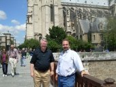 Notre Dame in Paris with former County Commissioner Hodge