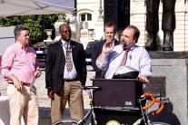 Speaking at Baltimore Bike to Work Day