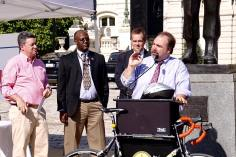 Speaking at Baltimore Bike to Work Day