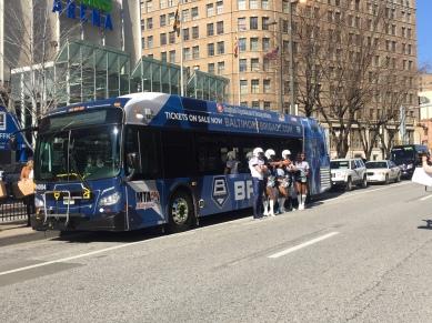 Baltimore Brigade (Indoor Football) Themed Bus