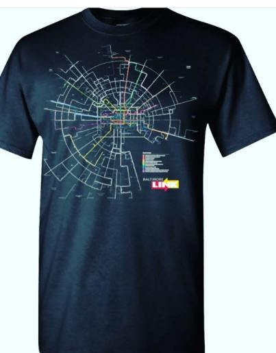Our Baltimore Link Map Neon Shirt