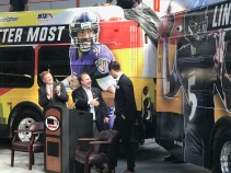 W Joe Flacco at Bus Dedication