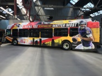 One of the five Joe Flacco buses in all its glory
