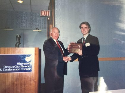 """Receiving the Key to the City from Ocean City Mayor Roland """"Fish"""" Powell"""