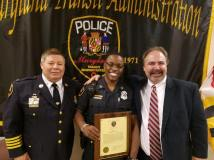 With MTA Police Chief and Officer of the Year