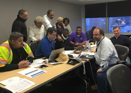 w MTA officials at our EOC during Winter Storm Jonas