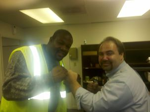 With former World Heavyweight Boxing Champion Riddick Bowe when he was an employee of mine