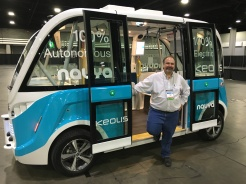 Walking off the Autonomous Shuttle