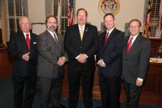 The Queen Anne's County Commissioners having just been sworn in to office.