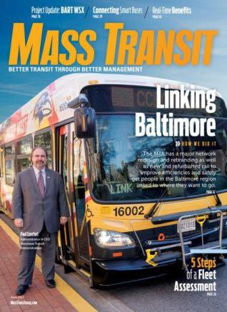 On the cover of Mass Transit Magazine, June 2017
