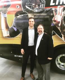 Dedicating Baltimore Raven's QB Joe Flacco's Bus
