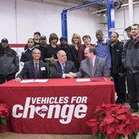 Signing MOU with Governor and Mayor to hire former felons to serve as bus mechanics