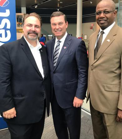 With Southest Airlines President and Ricky Smith, CEO of BWI