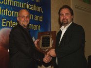 Receiving MD/DC/DE Cable TV Association Government Leader Award for building a new PEG TV Station, QAC-TV