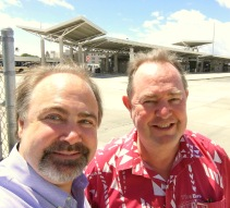 With Roger Morton, CEO Oahu Transit