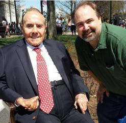 With former Senator Bob Dole at WWII Monument