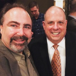 w Governor Larry Hogan at his birthday party